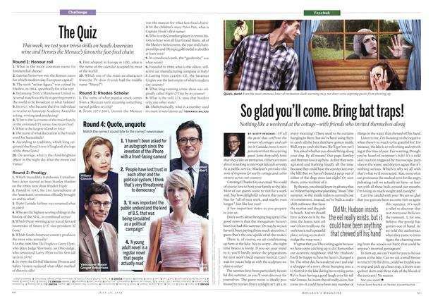 Article Preview: So glad you'll come. Bring bat traps!, July 2014 | Maclean's