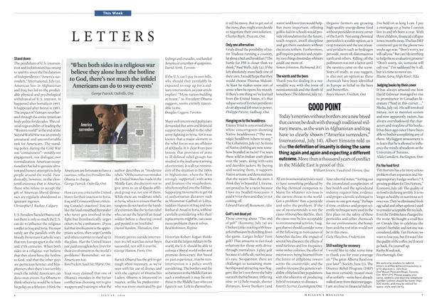 Article Preview: LETTERS, July 2014 | Maclean's