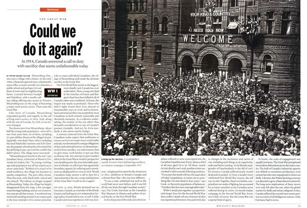 Article Preview: Could we do it again?, August 2014 | Maclean's