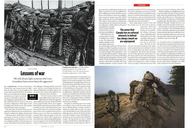 Article Preview: Lessons of war, August 2014 | Maclean's