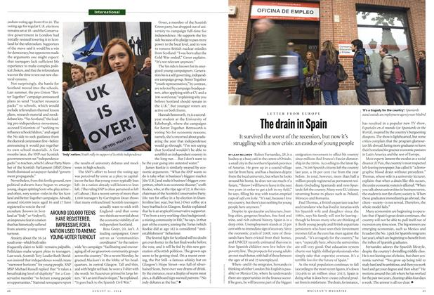 Article Preview: The drain in Spain, August 2014 | Maclean's