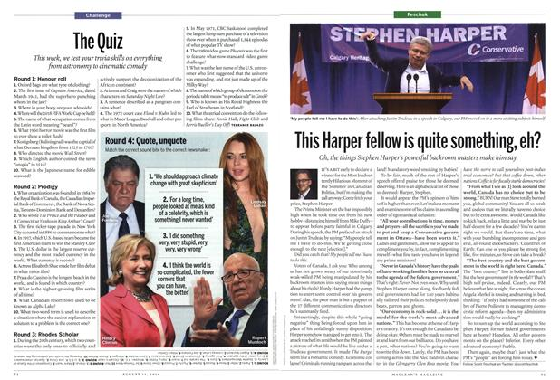 Article Preview: The Quiz, August 2014 | Maclean's