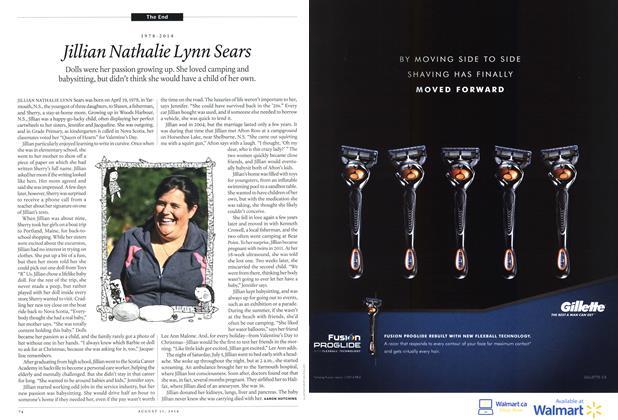 Article Preview: Jillian Nathalie Lynn Sears, August 2014 | Maclean's