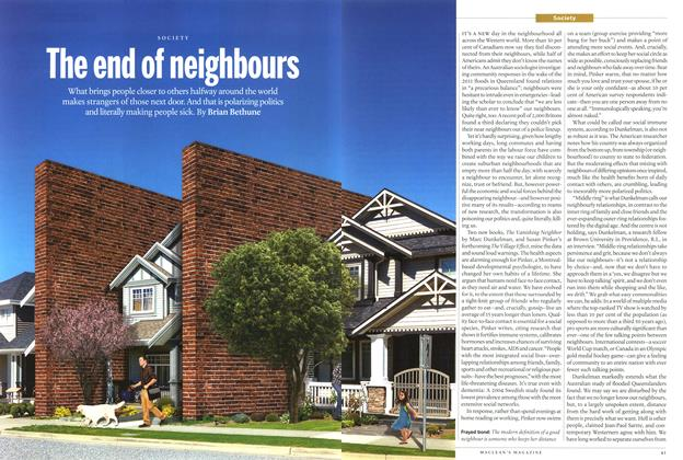 Article Preview: The end of neighbours, August 2014 | Maclean's