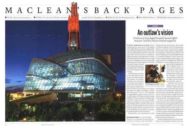 Article Preview: An outlaw's vision, August 2014 | Maclean's