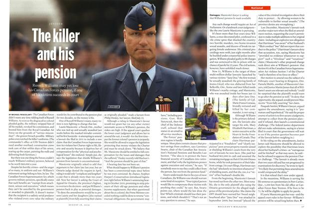 Article Preview: The killer and his pension, August 2014 | Maclean's