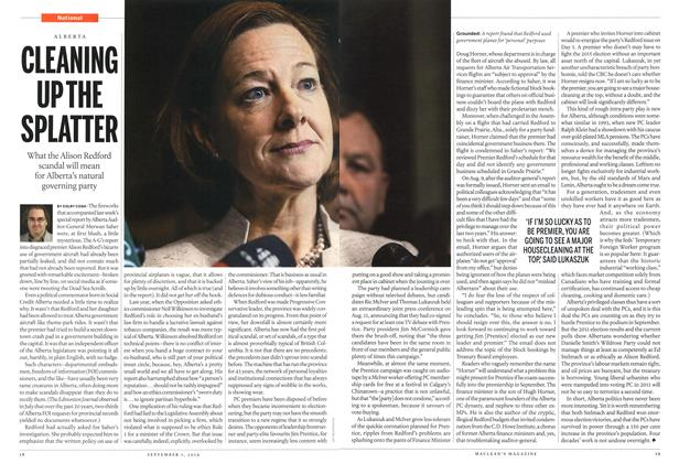 Article Preview: CLEANING UP THE SPLATTER, September 2014 | Maclean's