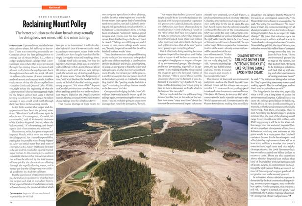 Article Preview: Reclaiming Mount Polley, September 2014 | Maclean's