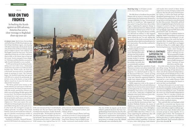 Article Preview: WAR ON TWO FRONTS, September 2014 | Maclean's
