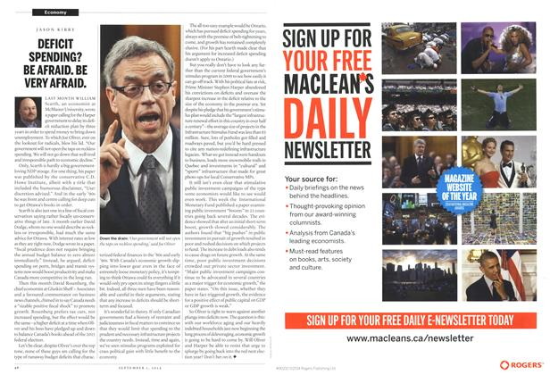 Article Preview: DEFICIT SPENDING? BE AFRAID. BE VERY AFRAID., September 2014 | Maclean's