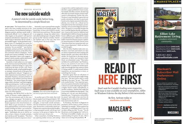 Article Preview: The new suicide watch, September 2014 | Maclean's