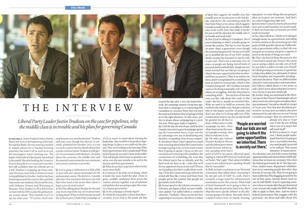 Article Preview: THE INTERVIEW, September 2014 | Maclean's