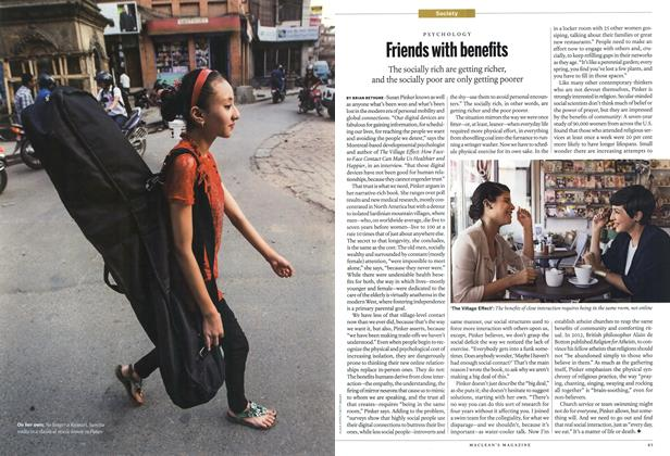 Article Preview: Friends with benefits, September 2014 | Maclean's