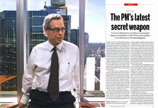 Article Preview: The PM's latest secret weapon, September 2014 | Maclean's