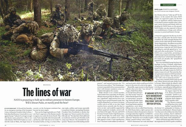 Article Preview: The lines of war, September 2014 | Maclean's