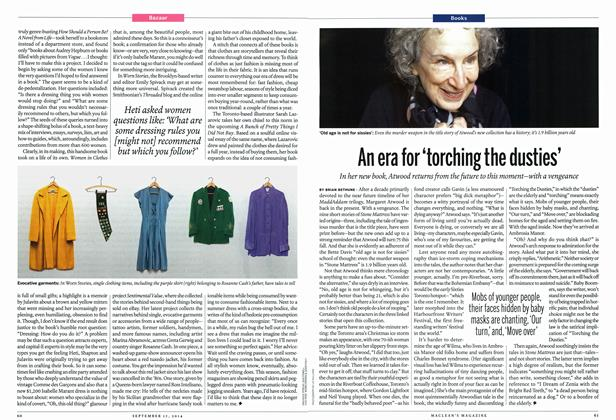 Article Preview: An era for 'torching the dusties', September 2014 | Maclean's