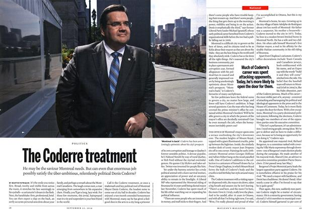 Article Preview: The Coderre treatment, September 2014 | Maclean's