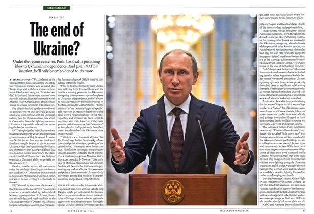Article Preview: The end of Ukraine?, September 2014 | Maclean's