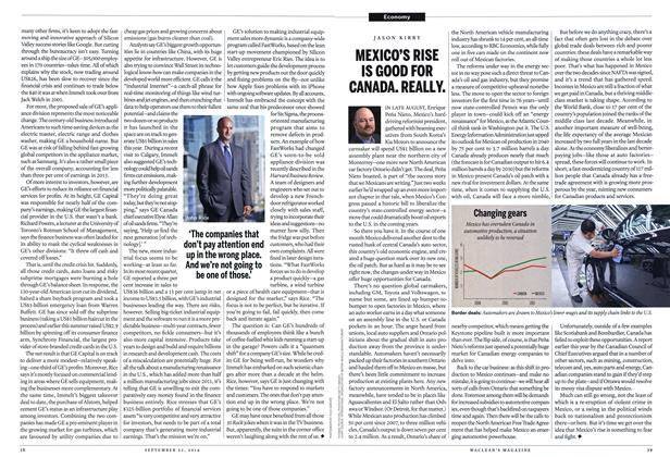 Article Preview: MEXICO'S RISE IS GOOD FOR CANADA. REALLY., September 2014 | Maclean's