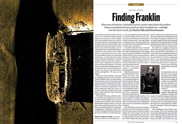 Article Preview: Finding Franklin, September 2014 | Maclean's