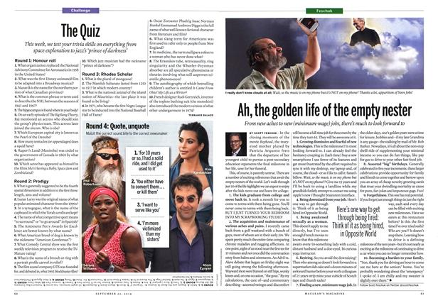Article Preview: The Quiz, September 2014 | Maclean's