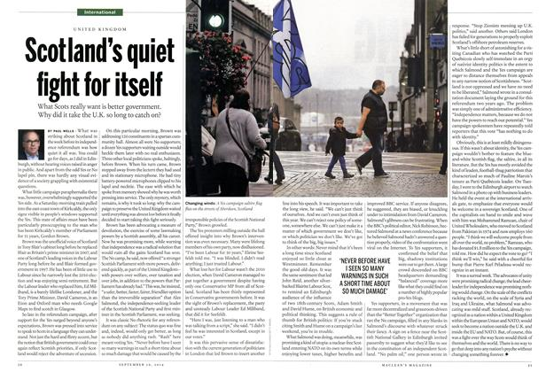 Article Preview: Scotland's quiet fight for itself, September 2014 | Maclean's