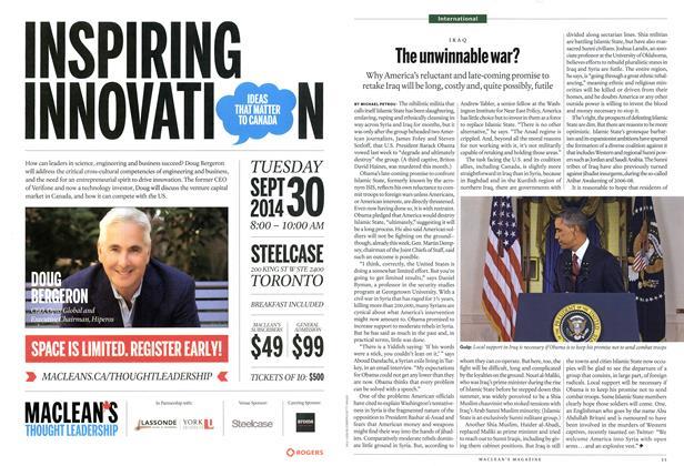 Article Preview: The unwinnable war?, September 2014   Maclean's