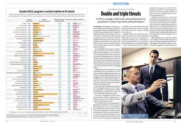 Article Preview: Double and triple threats, September 2014 | Maclean's