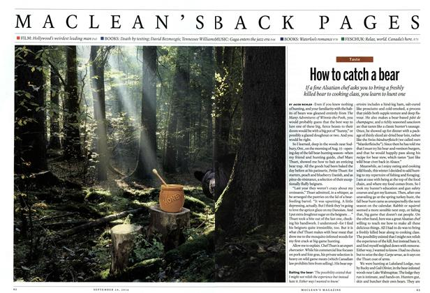 Article Preview: How to catch a bear, September 2014 | Maclean's