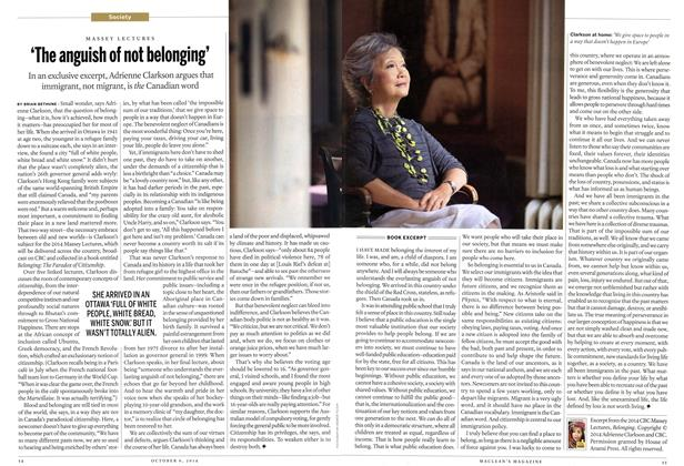 Article Preview: 'The anguish of not belonging', October 2014 | Maclean's