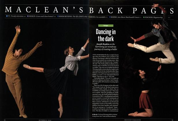 Article Preview: Dancing in the dark, October 2014 | Maclean's