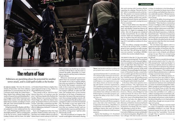 Article Preview: The return of fear, October 2014 | Maclean's