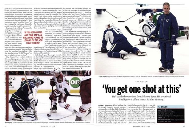 Article Preview: 'You get one shot at this', October 2014 | Maclean's
