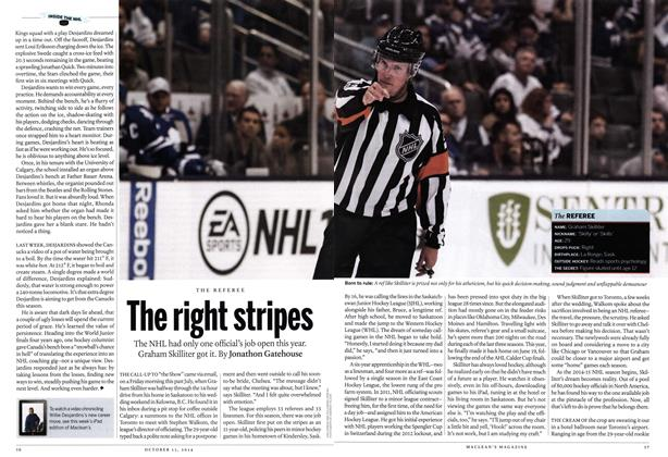 Article Preview: The right stripes, October 2014 | Maclean's