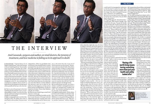 Article Preview: THE INTERVIEW, October 2014 | Maclean's
