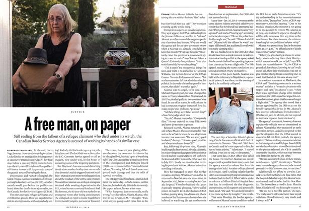 Article Preview: A free man, on paper, October 2014 | Maclean's