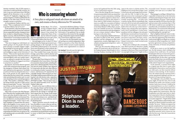 Article Preview: Who is censoring whom?, OCTOBER 27' 2014 2014 | Maclean's