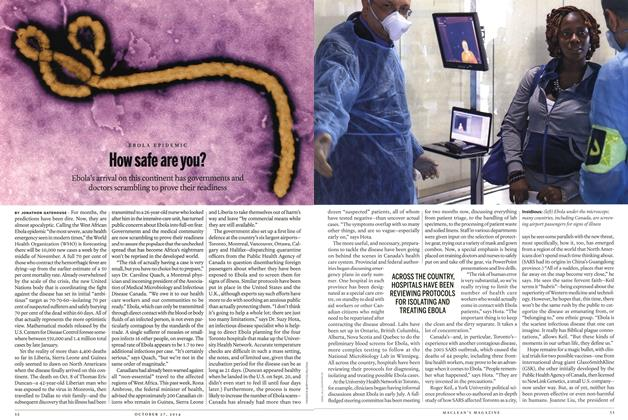 Article Preview: HOW Safe are you?, OCTOBER 27' 2014 2014 | Maclean's