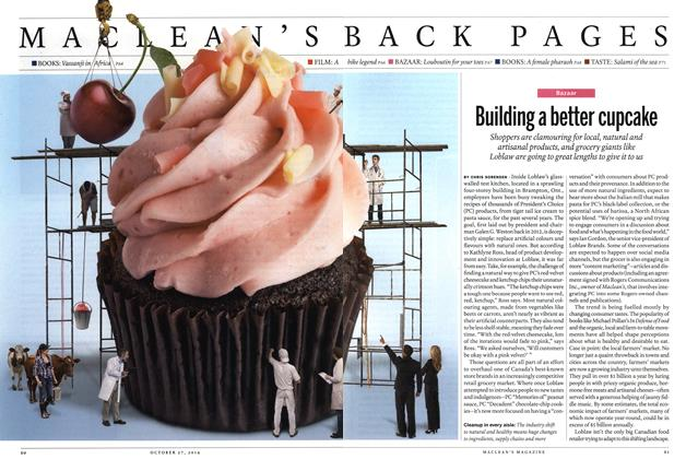 Article Preview: Building a better cupcake, OCTOBER 27' 2014 2014 | Maclean's
