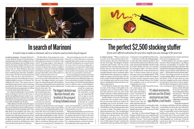 Article Preview: In search of Marinoni, OCTOBER 27' 2014 2014 | Maclean's