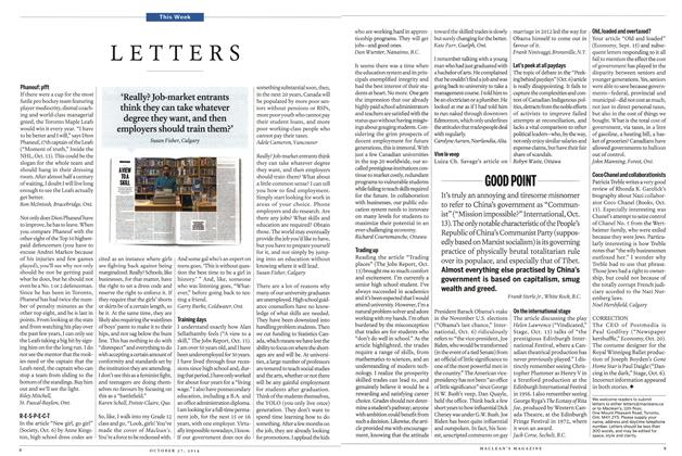 Article Preview: LETTERS, OCTOBER 27' 2014 2014 | Maclean's