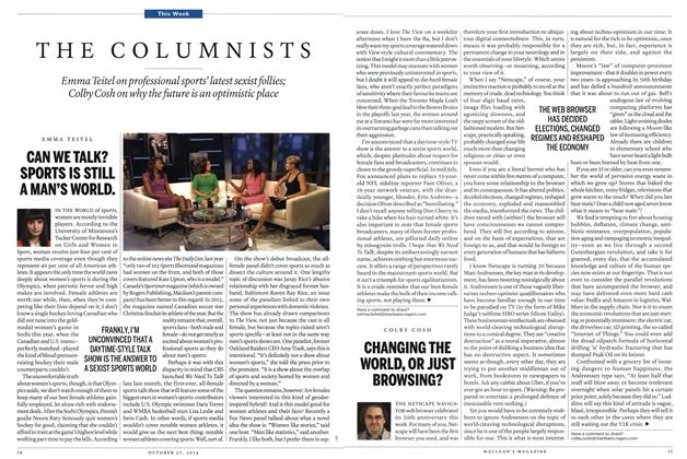 Article Preview: CHANGING THE WORLD, OR JUST BROWSING?, OCTOBER 27' 2014 2014 | Maclean's