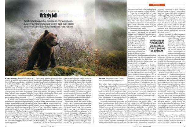 Article Preview: Grizzly toll, November 2014 | Maclean's
