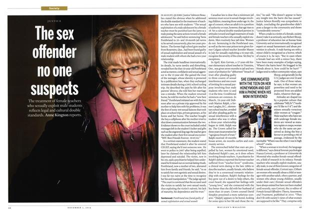 Article Preview: The sex offender no one suspects, November 2014 | Maclean's