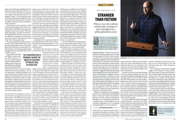 Article Preview: STRANGER THAN FICTION, November 2014 | Maclean's