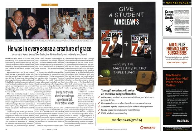 Article Preview: He was in every sense a creature of grace, November 2014 | Maclean's