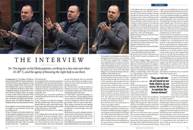 Article Preview: THE INTERVIEW, November 2014 | Maclean's