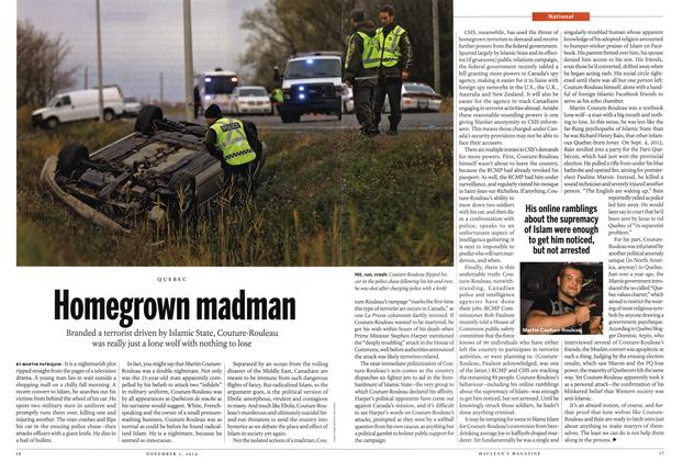 Article Preview: Homegrown madman, November 2014 | Maclean's
