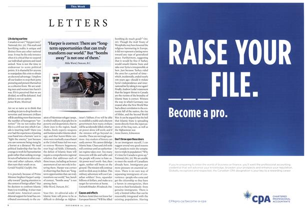 Article Preview: LETTERS, November 2014 | Maclean's