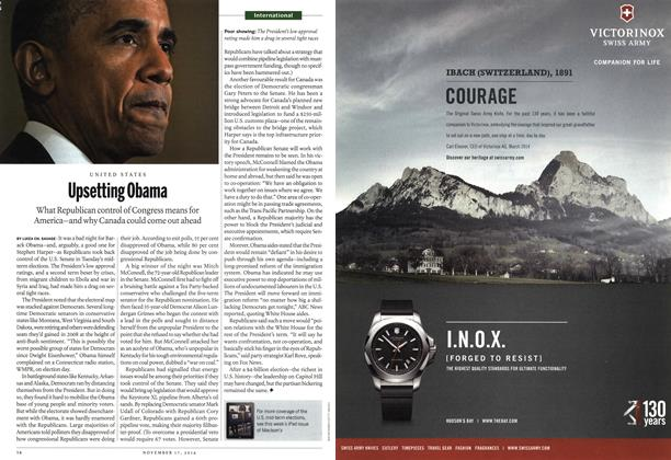 Article Preview: Upsetting Obama, November 2014 | Maclean's